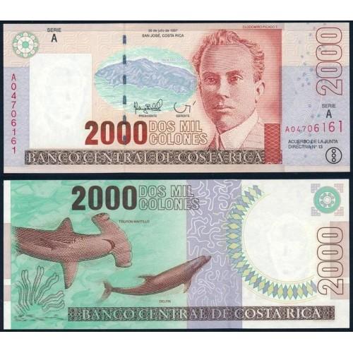 COSTA RICA 2000 Colones 1997
