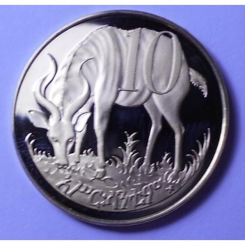 ETHIOPIA 10 Cents 1977 PROOF