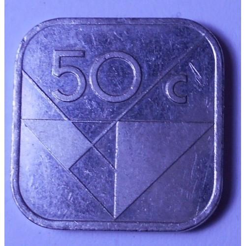 ARUBA 50 cents 1992