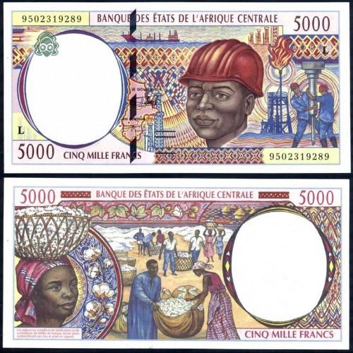 GABON (C.A.S.) 5000 Francs...