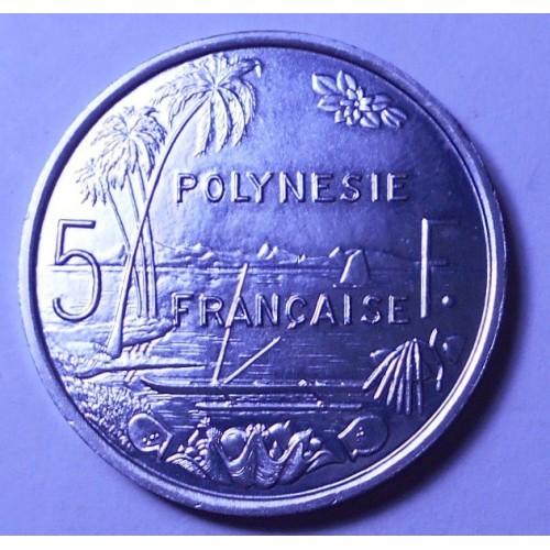 FRENCH POLYNESIA 5 Francs 1986