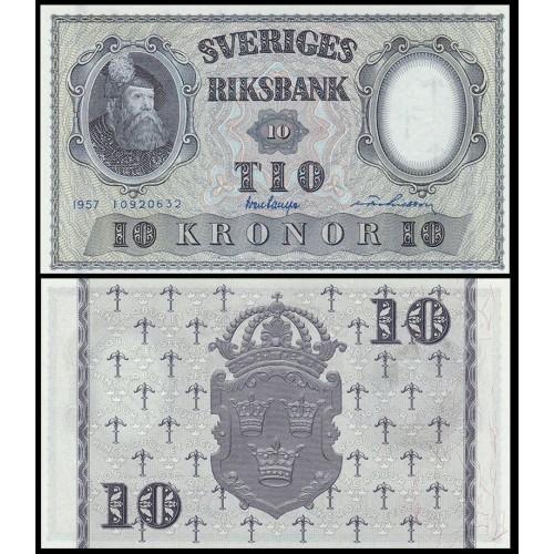 SWEDEN 10 Kronor 1957