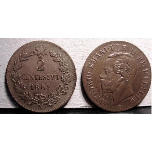 2 Centesimi 1862 N