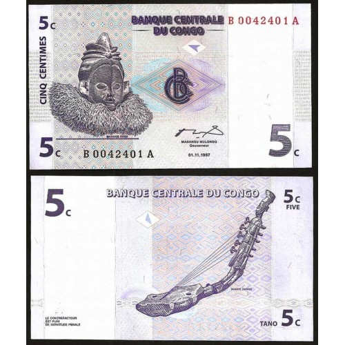 CONGO DEMOCRATIC 5 Centimes...