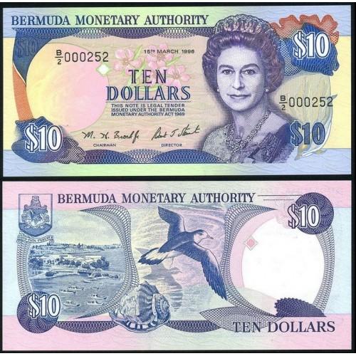 BERMUDA 10 Dollars 1996