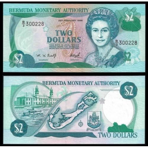 BERMUDA 2 Dollars 1996
