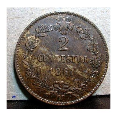 2 Centesimi 1861 M