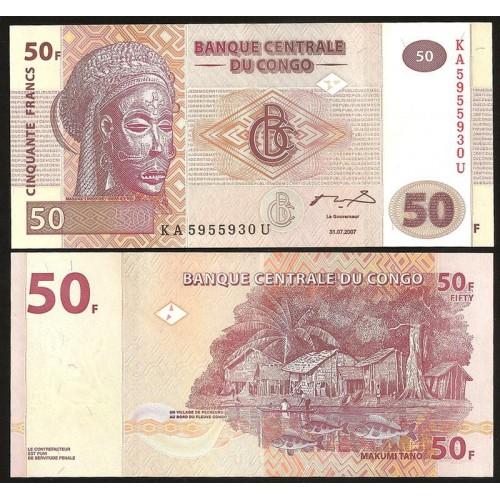 CONGO DEMOCRATIC 50 Francs...