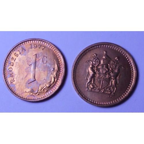 RHODESIA 1 Cent 1977