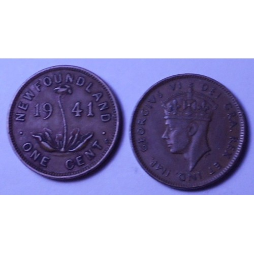 NEWFOUNDLAND 1 Cent 1941