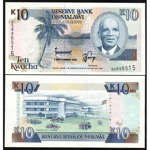 MALAWI 10 Kwacha 1992