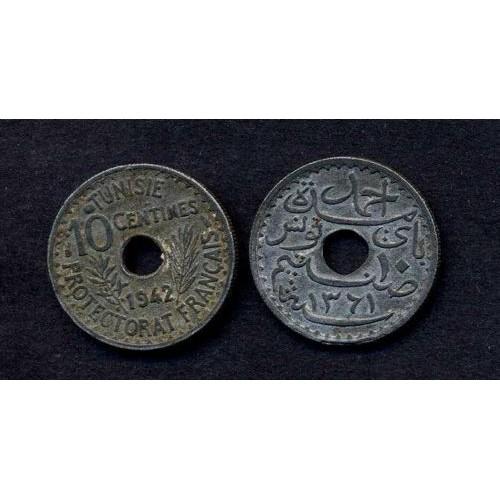 TUNISIA 10 Centimes 1942