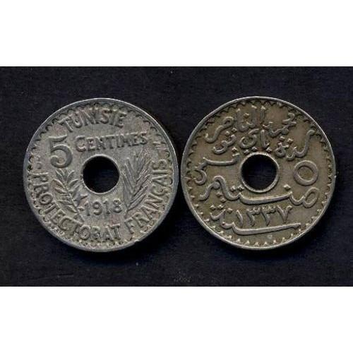TUNISIA 5 Centimes 1918