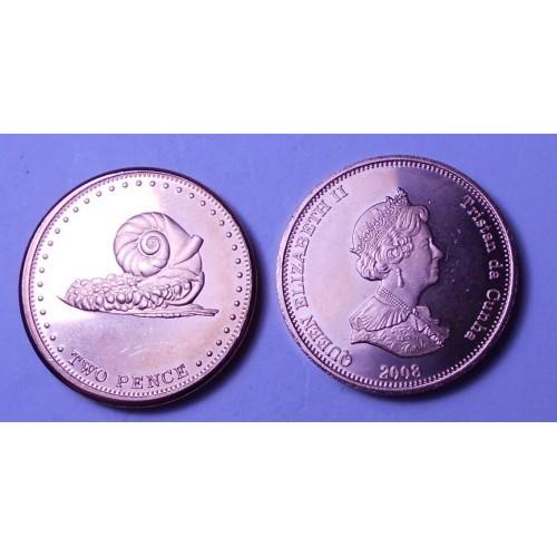 TRISTAN DA CUNHA 2 Pence...