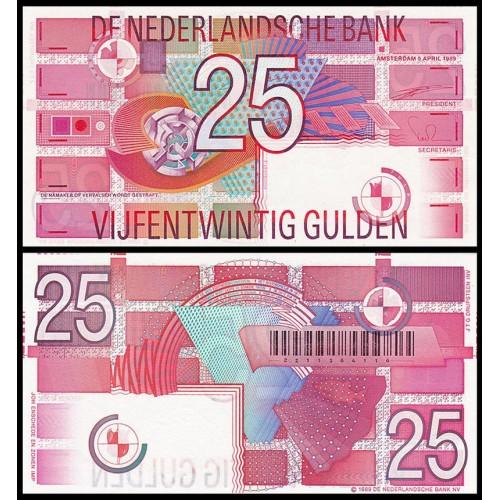 NETHERLANDS 25 Gulden 1989