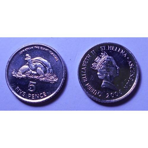 SAINT HELENA 5 Pence 2006...