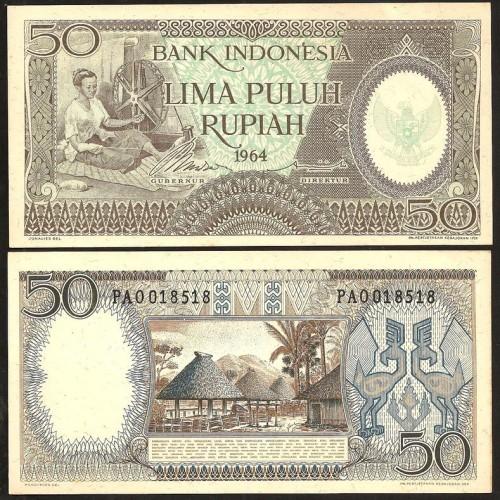 INDONESIA 50 Rupiah 1964