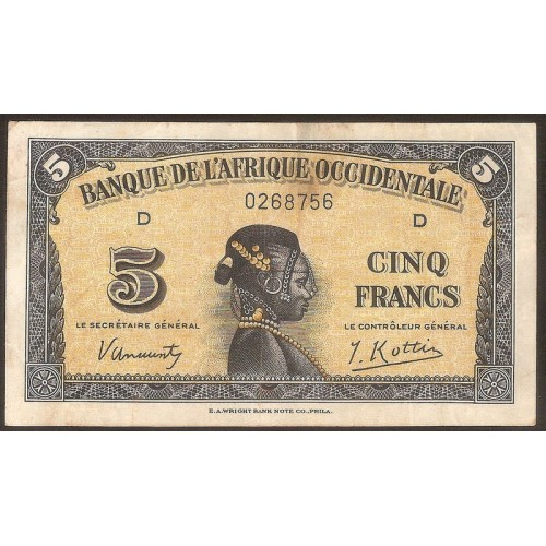 FRENCH WEST AFRICA 5 Francs...