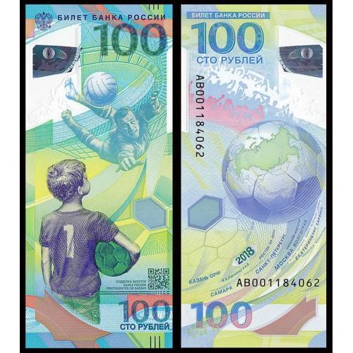 RUSSIA 100 Rubles 2018...