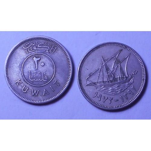 KUWAIT 20 Fils 1972