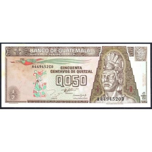 GUATEMALA 1/2 Quetzal 1993