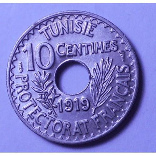 TUNISIA 10 Centimes 1919