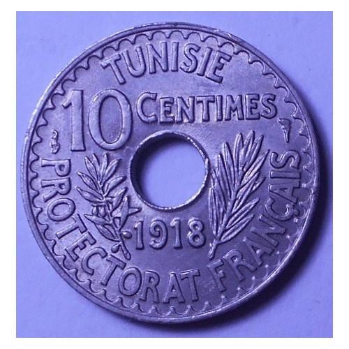 TUNISIA 10 Centimes 1918