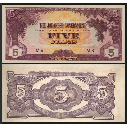 MALAYA 5 Dollars 1942