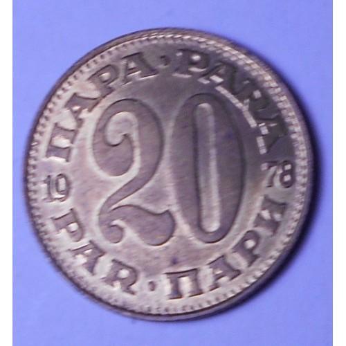 YUGOSLAVIA 20 Para 1978