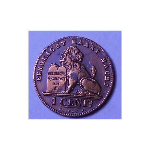 BELGIUM 1 Centime 1902 Der...