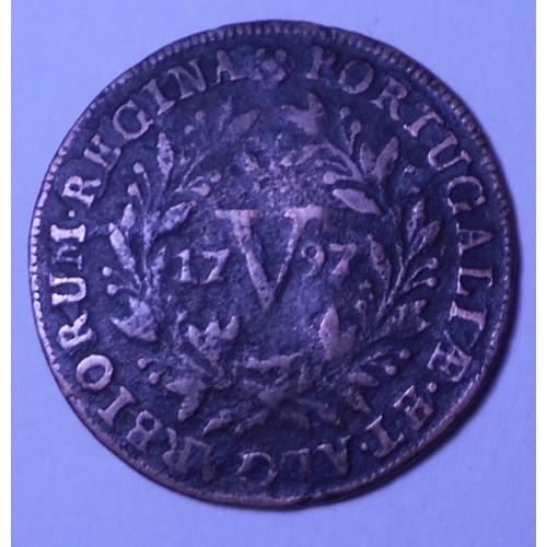 PORTUGAL 5 Reis 1797