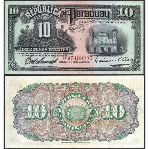 PARAGUAY 10 Pesos Fuertes 1923