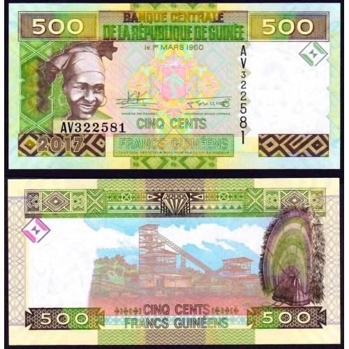 GUINEA 500 Francs 2017