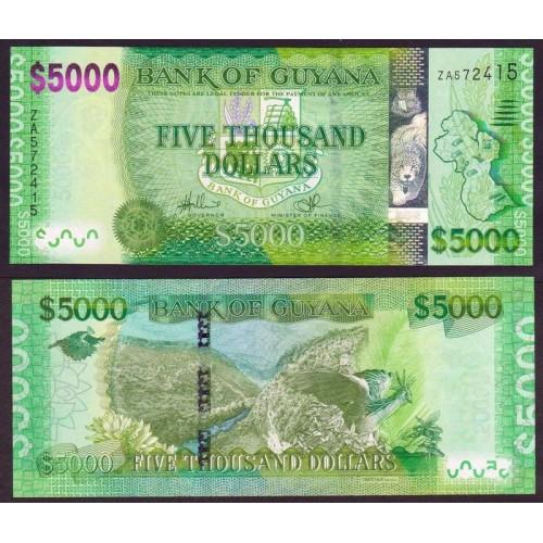 GUYANA 5000 Dollars 2013...