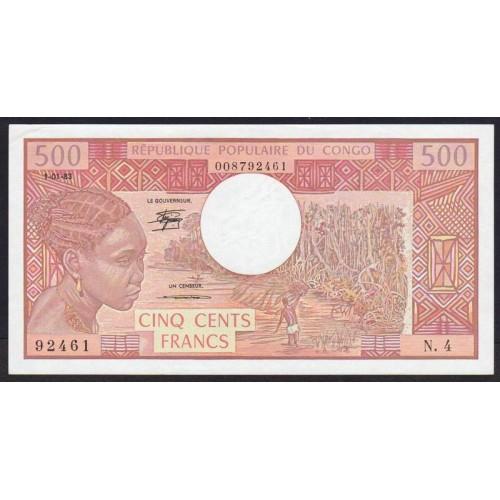 CONGO REPUBLIC 500 Francs 1983