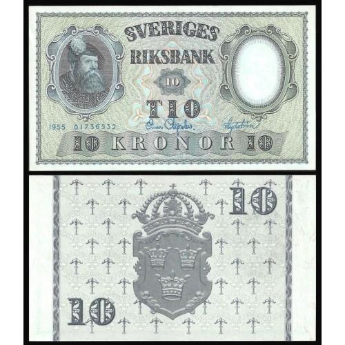 SWEDEN 10 Kronor 1955