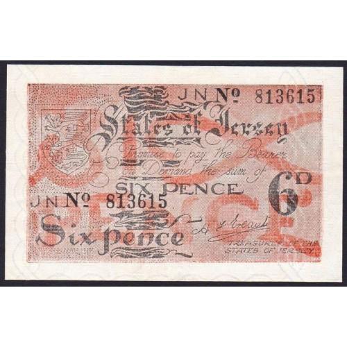 JERSEY 6 Pence 1941