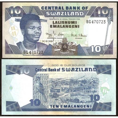 SWAZILAND 10 Emalangeni 2006