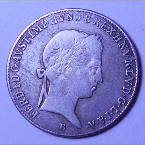 HUNGARY 10 Krajczar 1848 AG...