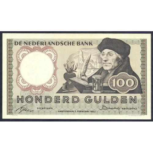 NETHERLANDS 100 Gulden 1953
