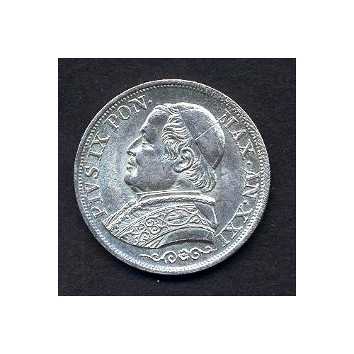 PIO IX 1 LIRA 1866 BUSTO...