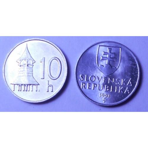 SLOVAKIA 10 Halierov 1993