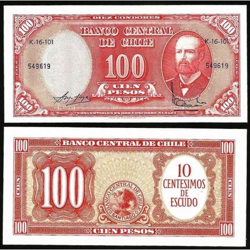 CHILE 10 Centesimos on 100...