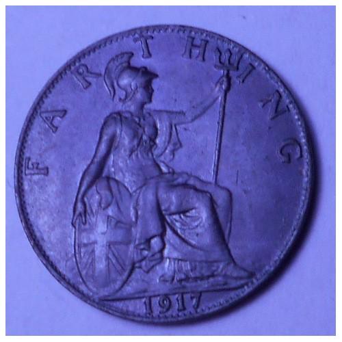 GREAT BRITAIN 1 Farthing 1917