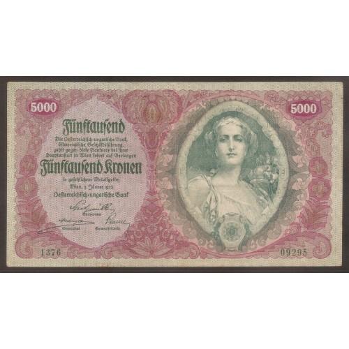 AUSTRIA 5000 Kronen 1922