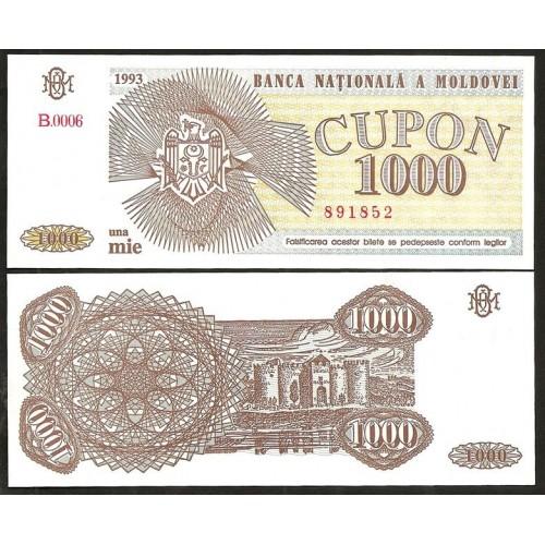 MOLDOVA 1000 Cupon 1993