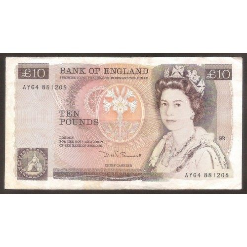 GREAT BRITAIN 10 Pounds 1975