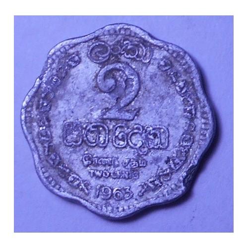 CEYLON 2 Cents 1963