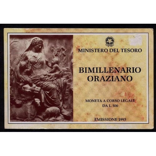 500 Lire 1993 ORAZIO