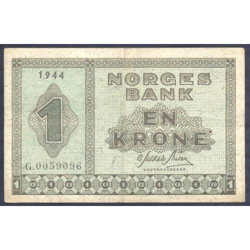 NORWAY 1 Krone 1944